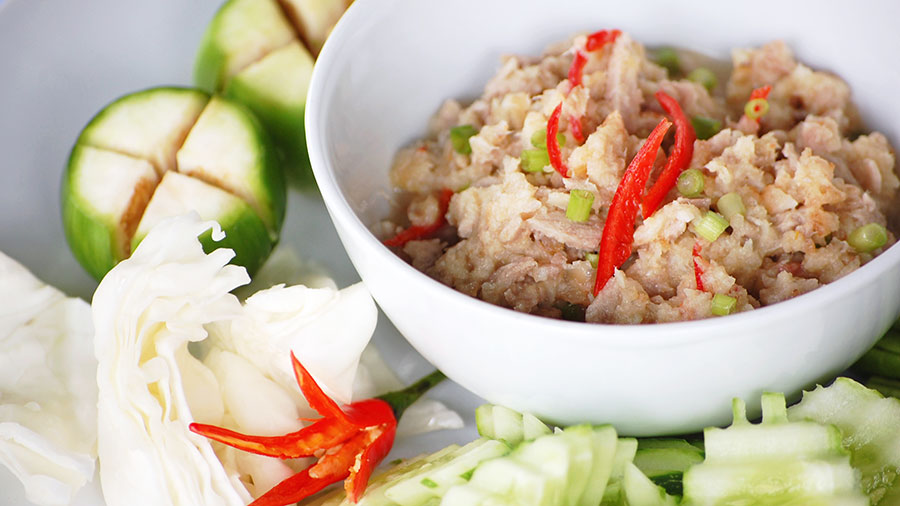 Vegetable garden pictures - Sour Fish Sauce With Fresh Vegetable And Sesame Seed